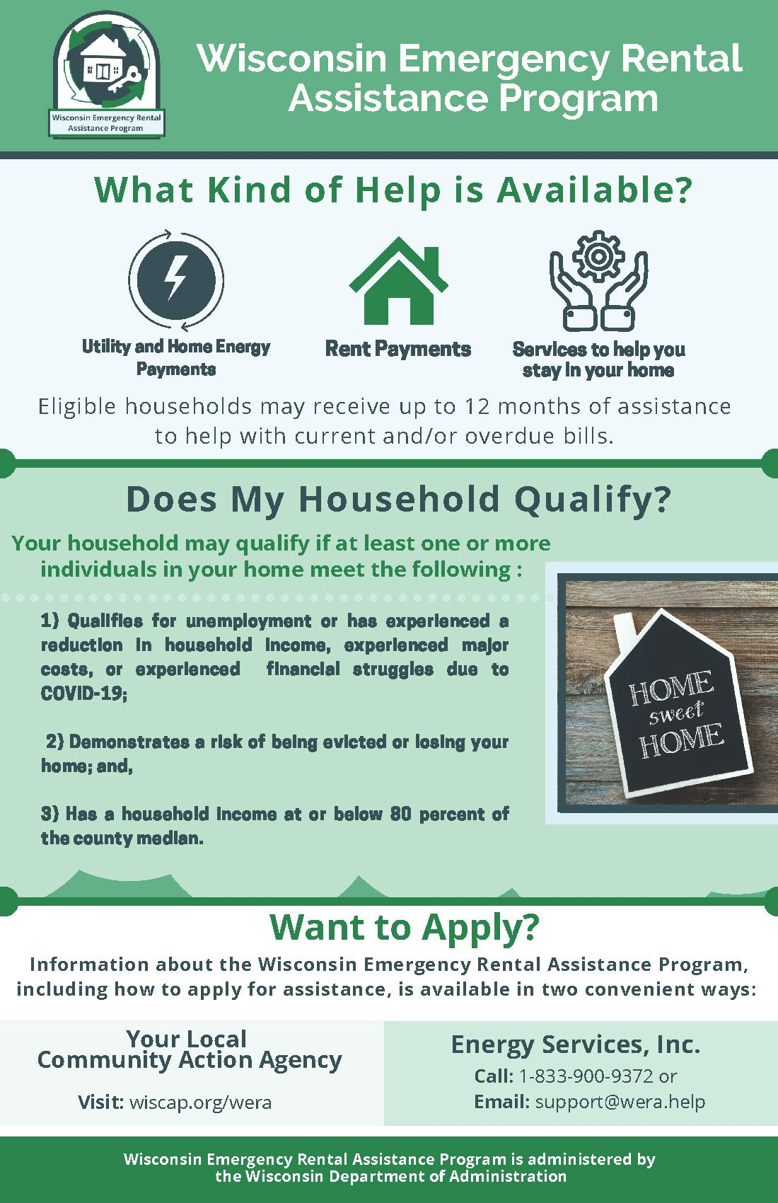 Wisconsin Emergency Rental Assistance Info